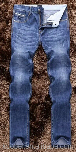 100% cotton fashion vintage blue color mens denim jeans cheap latest name brand men's blue ripped jeans