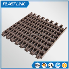 Plastic Flexible running flush grid modular belt for conveyor belt machine