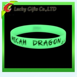 2015 Promotion Silicone Wristband Glow In the Dark Bracelet For Events