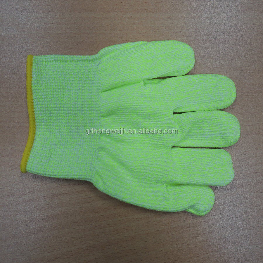 Level 5 Protection Buffalo leather work gloves ,7gauge knitted cotton gloves for labor protecting