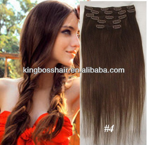 Hot sale in alibaba wholesale clip in hair extension 8pcs full head with factory price
