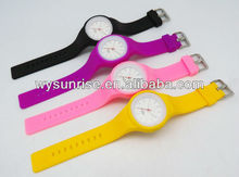 free samples silicone candy jelly odm interchangeable band watch