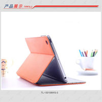 2013 Superior quality book style toothpick grain PU leather folding phone case for Ipad mini