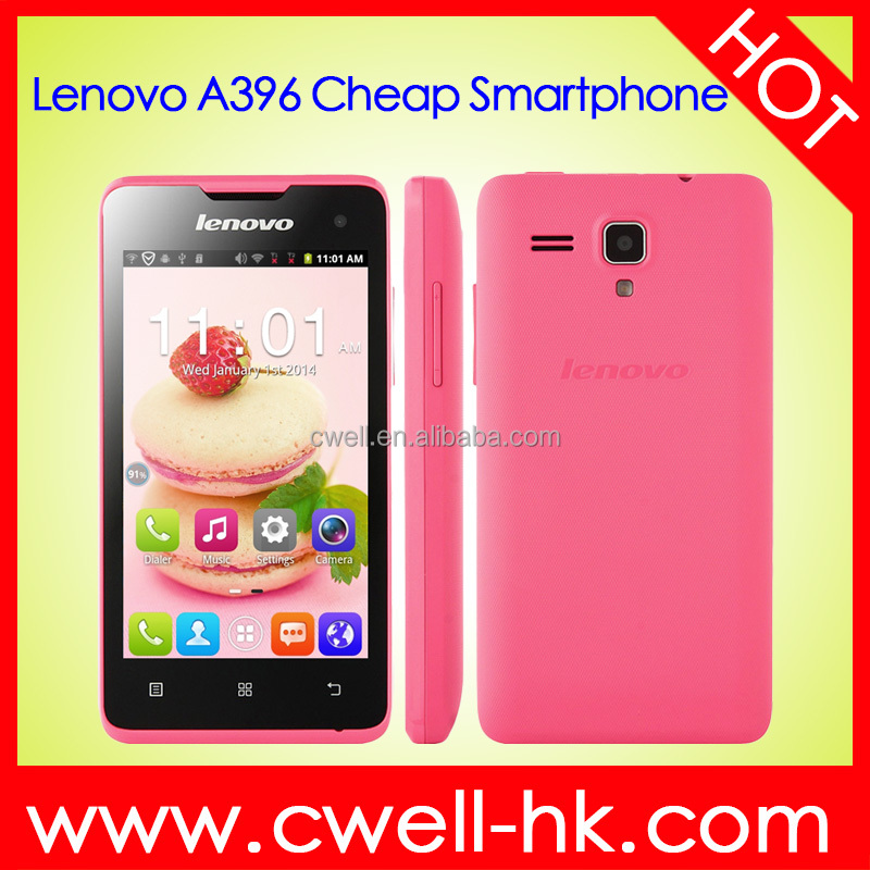 Original Lenovo A396 4.0 Inch TFT Touch Screen WiFi 3G Cheap Android Phone