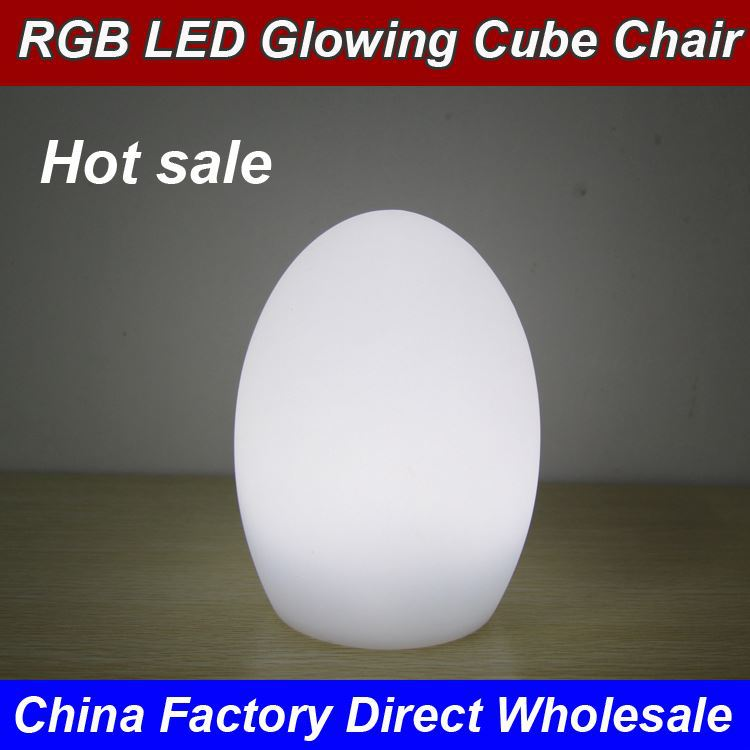 2017 New RGB Decorative KTV Decorations Rechargeable Remote Control Led Christmas Egg Shaped Light
