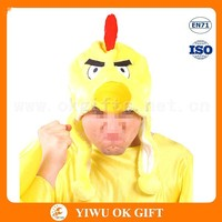 Velour fabric make adult chicken costume, child chicken costume, yellow sexy costume