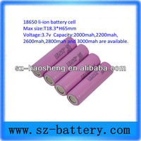 li ion battery cell panasonic 18650 battery 3000mah