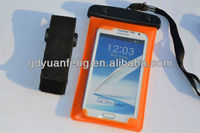 waterproof bag for For samsng note2 with armband