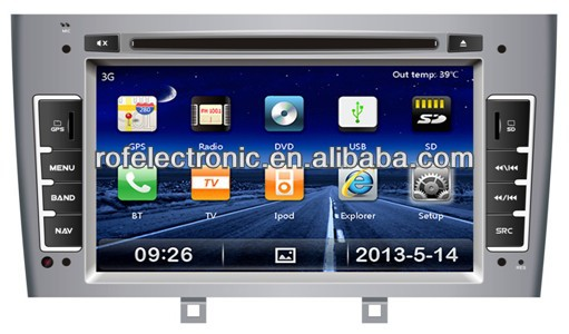 OEM FOR PEUGEOT 407 car dvd with gps bluetooth tv