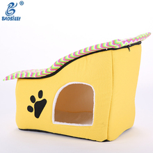 2017 Fancy Shape Iron Large Pet Dog/Cat Cute Color Wooden Dog House