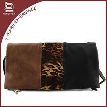 New Arrival pu NMS-5408 Leopard clutch leather handbags