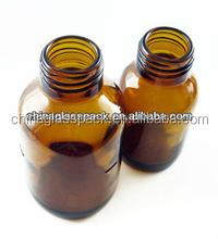 Screw Neck Amber Color Moulded Glass, 100ml Glass Bottle for Industrial