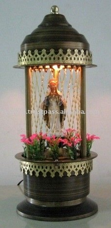 Rain Lamp with Statue of Saint Mary