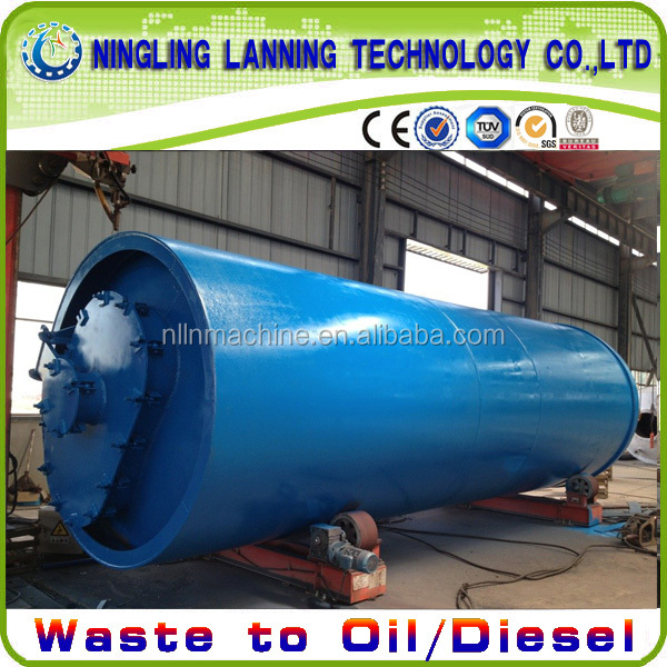 Most safety waste tire pyrolysis oil refining system