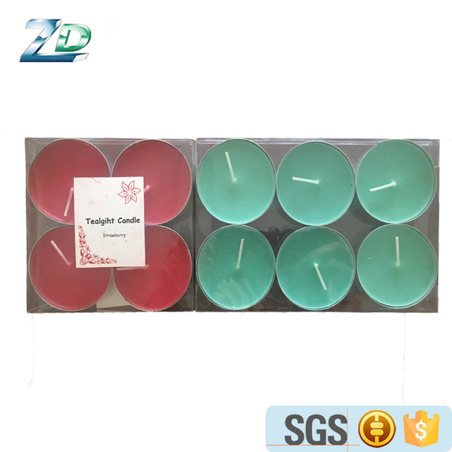 2017 popular scented tealight candle filling colored tealight candle for festival