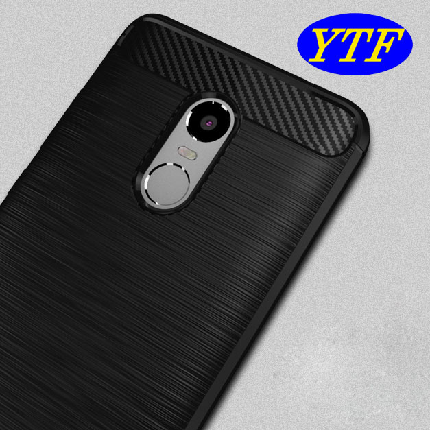 Business style 1.5mm thick carbon fiber brushed TPU case for Moto G4 Play