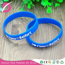 Shenzhen factory crafts wrist band silicon embossing wristband rubber bracelet