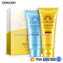 wholesale best whitening sun block cream with sunscreen protection