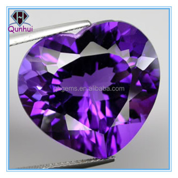 Heart shaped purple Cubic zirconia