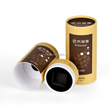 High grade paper cylinder packaging for cosmetics bottle