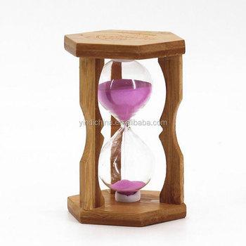 5mins 10mins handmade bamboo hourglass sand timer for house