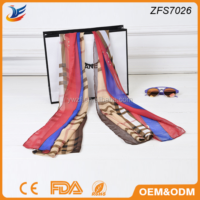 custom digital printing silk scarf