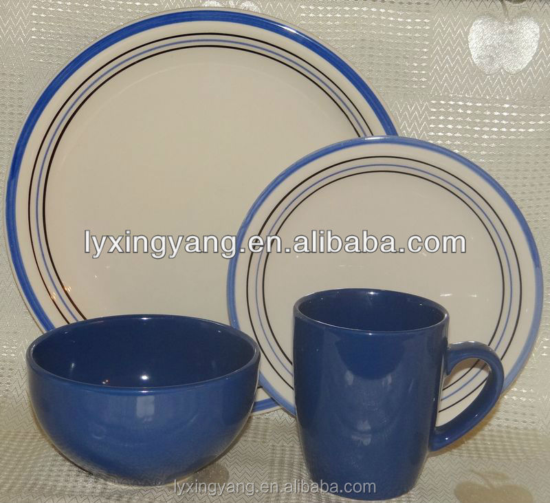 hot selling with cheap price ceramic glazed dinner set