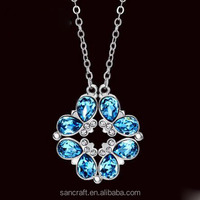 Austrian crystal interchangeable magnetic pendant necklace
