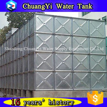New Metal Combined HDG Storage Tank /Galvanizing Steel Frame Water Tower/Hot Pressed Galvanized Water Tank