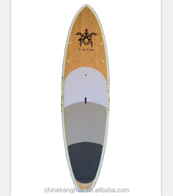 Full sizes epoxy fiberglass/colorful bamboo/wooden veneer surfboard/longboard/SUP paddle board