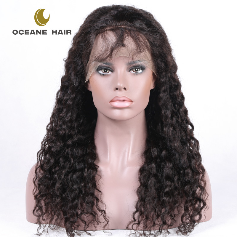 Loose Curly Wave Lace Front Human Hair Wigs-Glueless 130% Density Brazilian Virgin Remy Wigs with Baby Hair For Black Woman 22In
