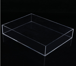 Manufacturer Custom Clear Rectangle Durable Recycled Acrylic Tray