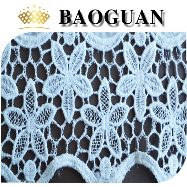 bottom flower patterns cotton embroidered fabric BG2042
