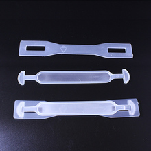 Environment-friendly plastic packaging handles pvc plastic grab handles for carton box