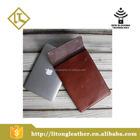 Genuine leather sleeve leather case for laptop and mini computers