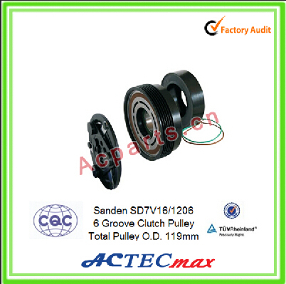 Electromagnetic clutch for Sanden SD7V16 compressor, Air conditioning compressor Magnetic Clutches,Sanden compressor parts
