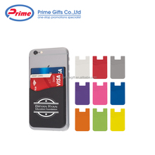 2017 New Promotional Silicone Mobile Phone Card Holder