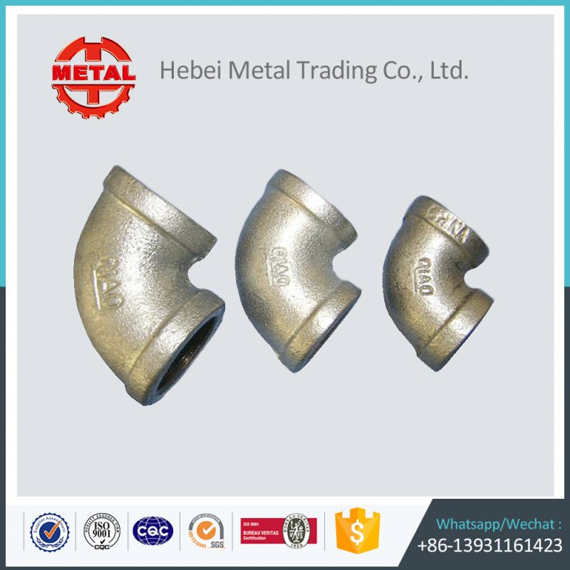 flexible pipe hot dipped galvanized steel connector malleable iron reducing tees