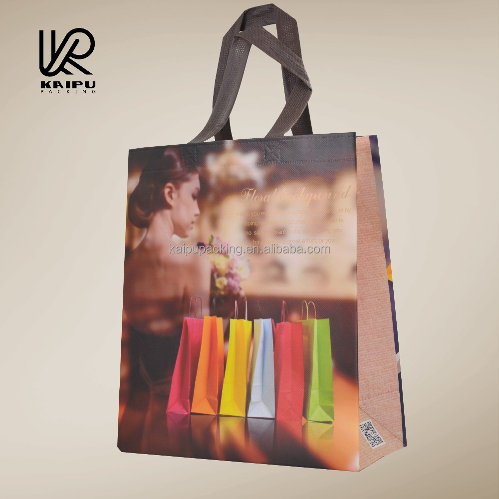 Laminated recyclable non woven tote bag for shopping and promotion