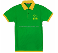 High quality green polo shirt campaign polo t shirts guangzhou factory