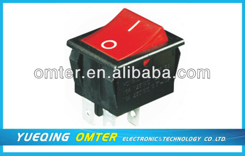 R-4-210-C5L-BR dpdt rocker switch on/on