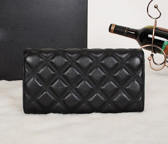 classical quilted lambskin famous branded luxury designer genuine leather brand wallet