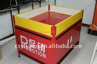 Iron products /supermarkets promotion desk with According to the requirements of custom
