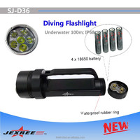 Jexree Magnetic Switch flashlight LED 6000 Lumen Canister Scuba Diving Equipment