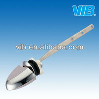 Toilet side lever for universal water tank with chrome plated ABS flush lever