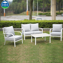 DW-SF114 5 Seater White Frame Garden Furniture Aluminum Outdoor Sofa Set