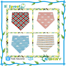 New Design baby bandana bibs set ,4pcs in pack