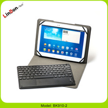 Detachable PU leather case cover touchpad tablet wireless Bluetooth keyboard BK910-2