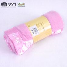 Wholesaler Softtextile 100% Polyester Solid Baby Coral Fleece Blanket