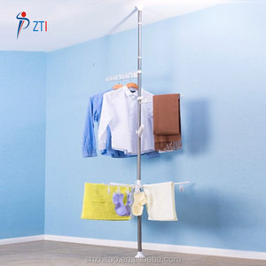 Telescopic adjustable stainless steel laundry drying rack